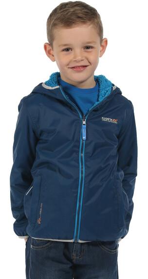 Regatta Lagoona Rain Jacket Kids Prussian (Methyl Blue Reverse)